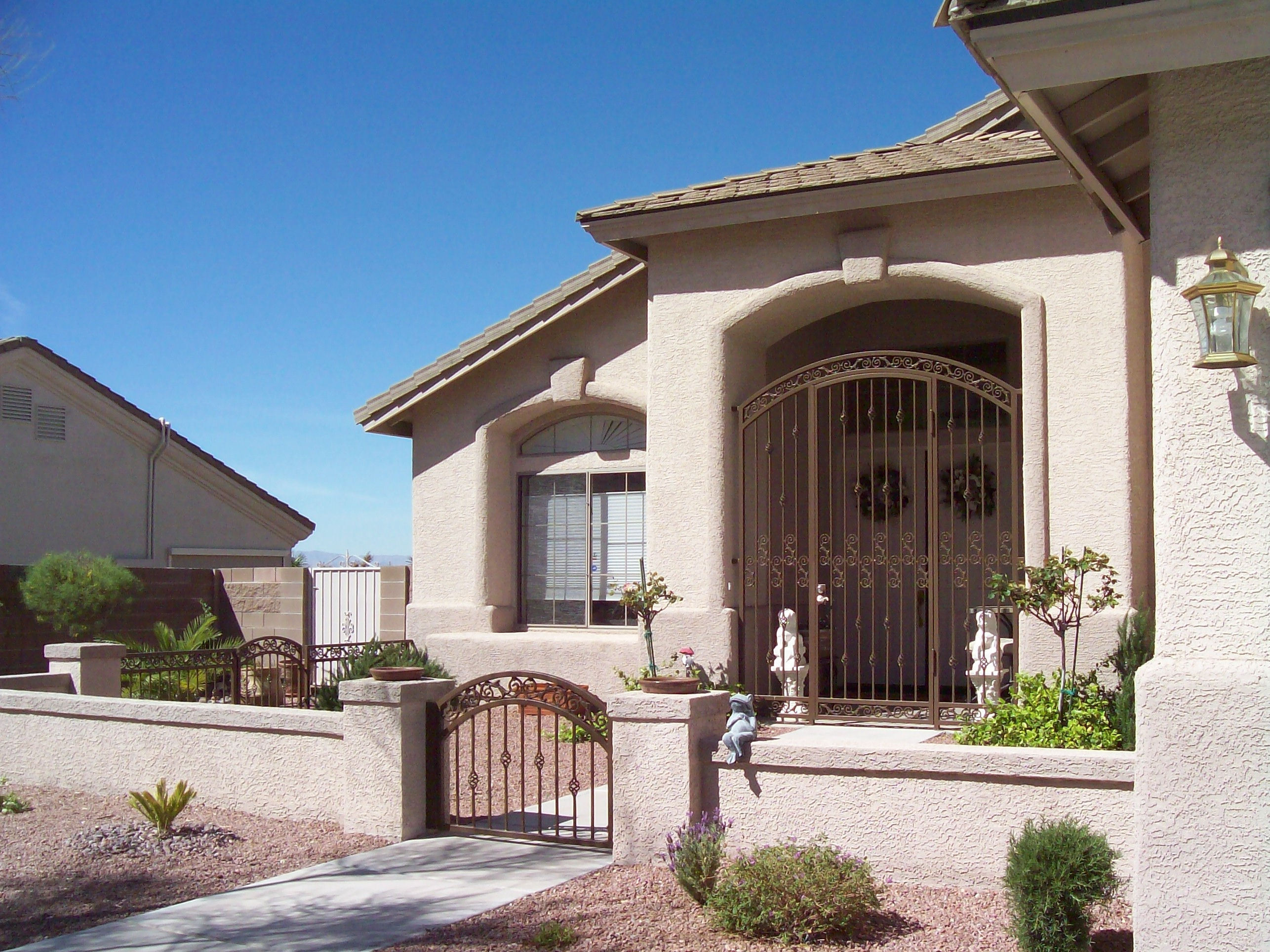 Iron Front Doors Las Vegas Chic Home
