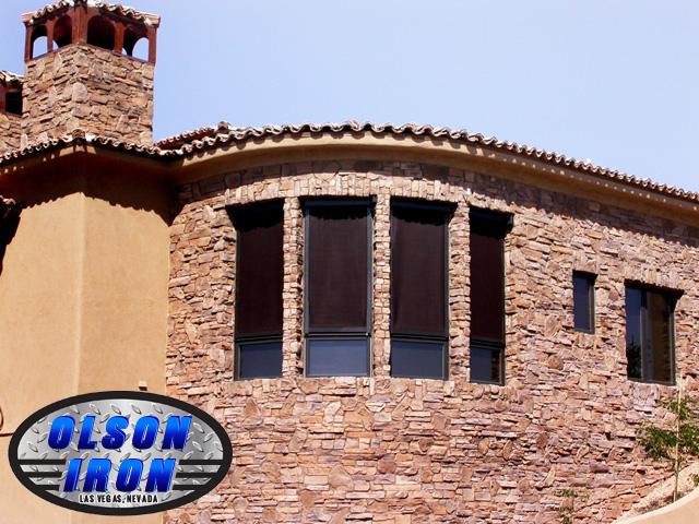 exterior shutters las vegas. drop shades by olson iron in las vegas nv exterior shutters a