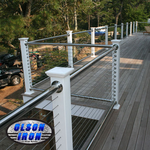 Stainless steel railing las vegas residential and for Stainless steel balcony