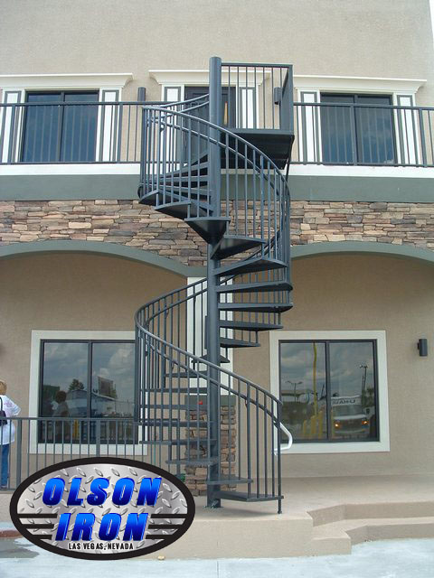 Iron Stairs Amp Spirals Las Vegas Custom Wrought Iron