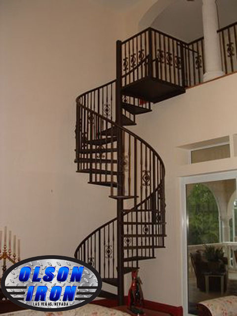 Iron Stairs Spirals Las Vegas Custom Wrought Iron
