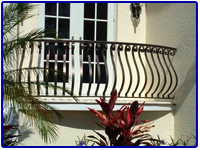 Iron Balcony Rails by Olson Iron in Las Vegas NV