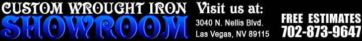 Call for a Free Cost Estimate on Custom Wrought Iron Works for Residential and Commercial Customers