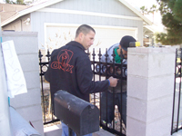 Custom Wrought Iron Gates, Doors, Fences, Art and Rails by Olson Iron Inc., Las Vegas, Nevada.
